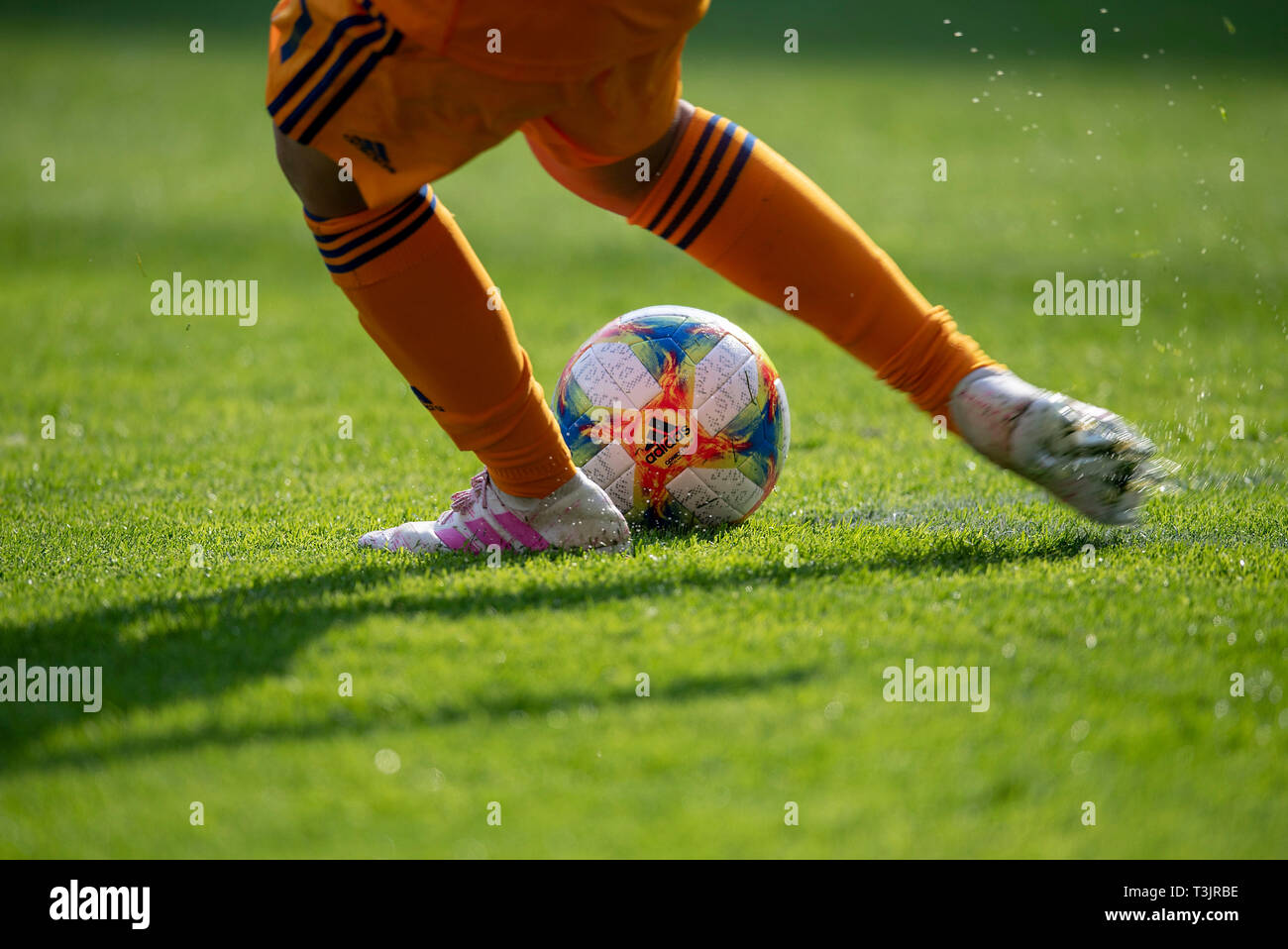 Adidas Football Boots Stockfotos & Adidas Football Boots