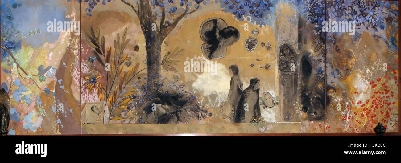 La Nuit, 1910-1911. In der Sammlung der Abbaye de Fontfroide, Narbonne gefunden. Stockbild