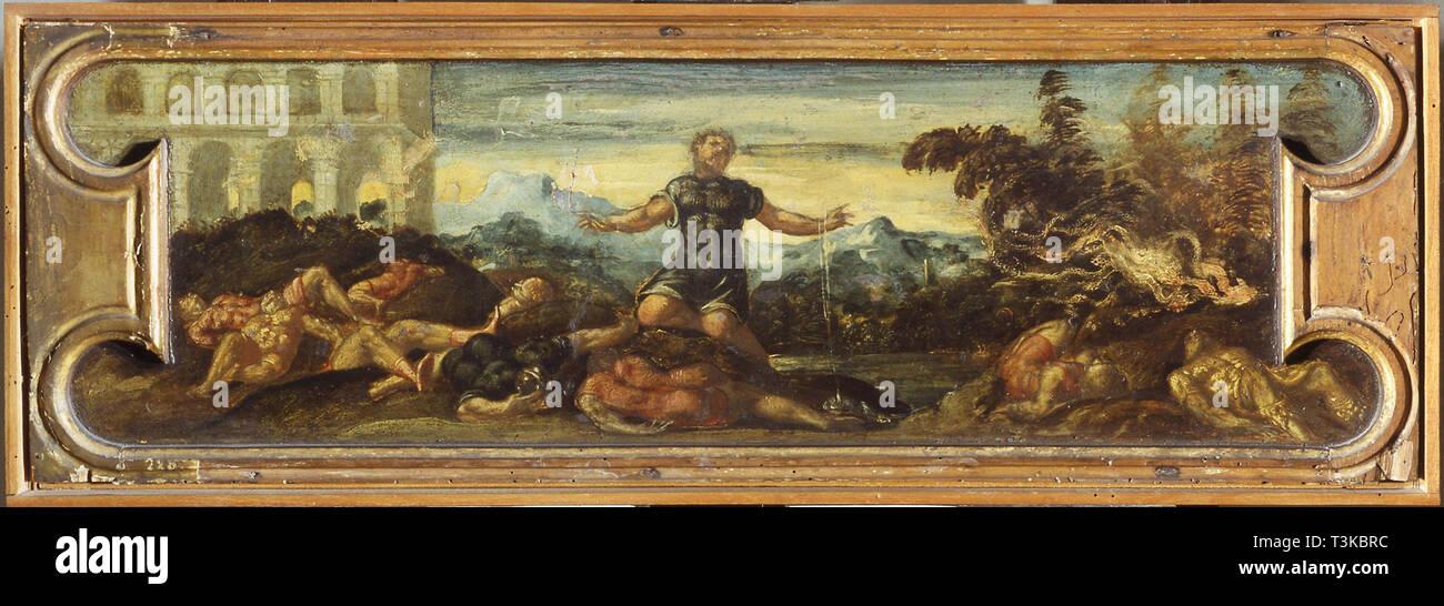 Samson. In der Sammlung des Museo di Castelvecchio, Verona gefunden. Stockbild