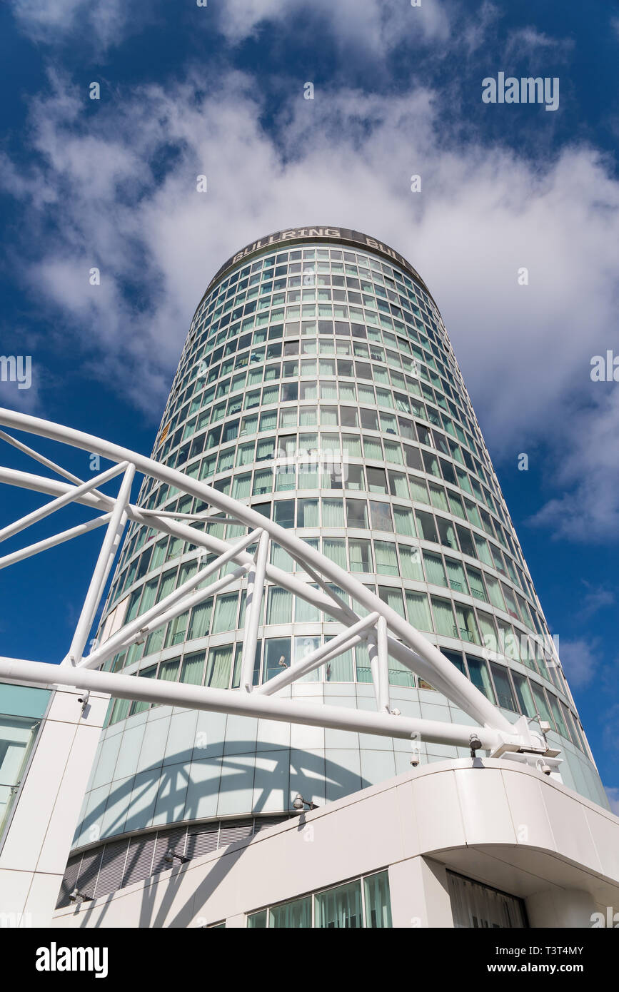 Die markante Rotunde kugelförmige Gebäude neben Birmingham Bullring Shopping Center Stockbild