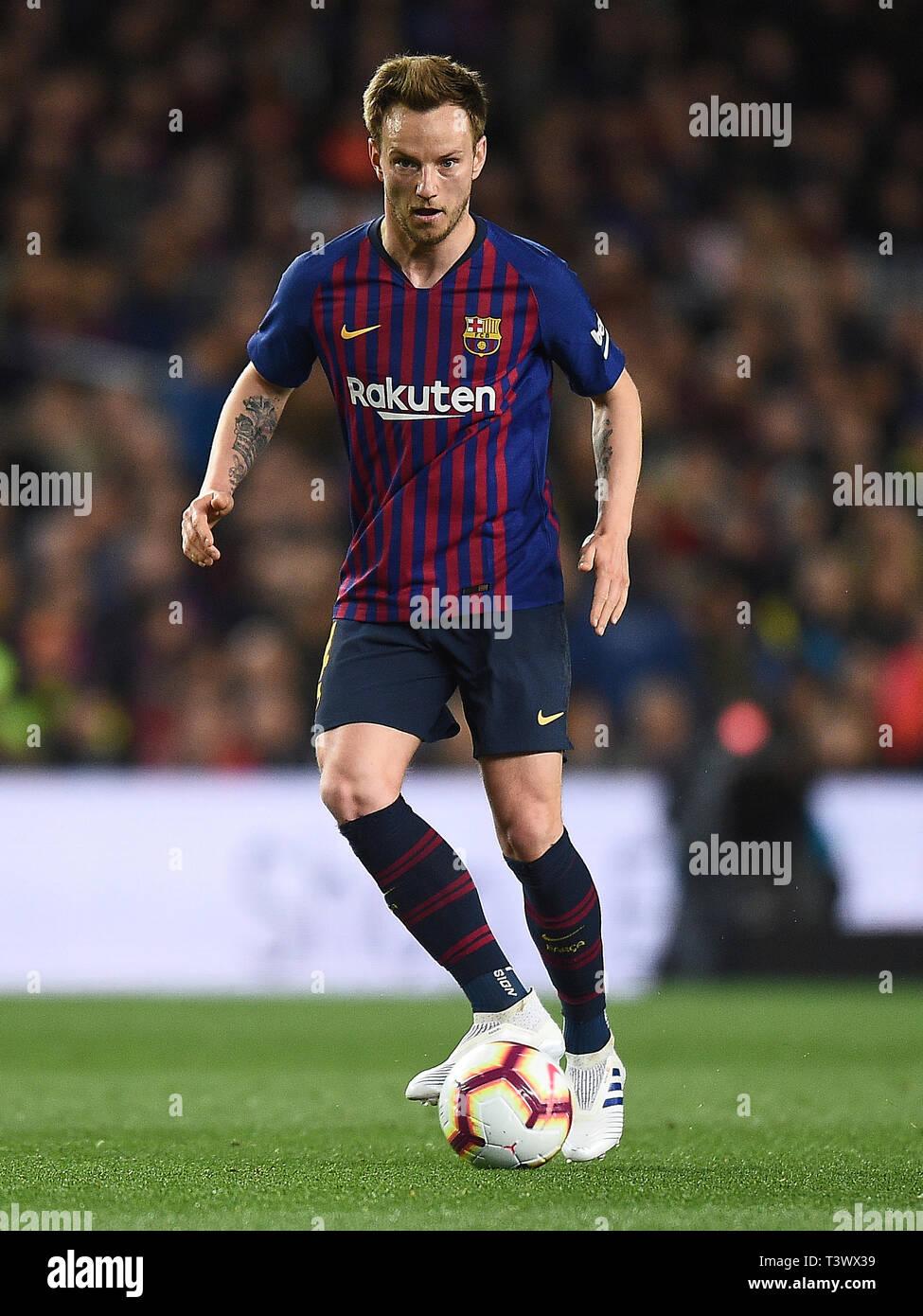 Ivan Rakitic des FC Barcelona während des Spiels zwischen dem FC Barcelona vs Atlético de Madrid von LaLiga, Datum 31, 2018-2019 Saison. Das Stadion Camp Nou. Barcelona, Spanien - 06. Apr 2019. Stockfoto