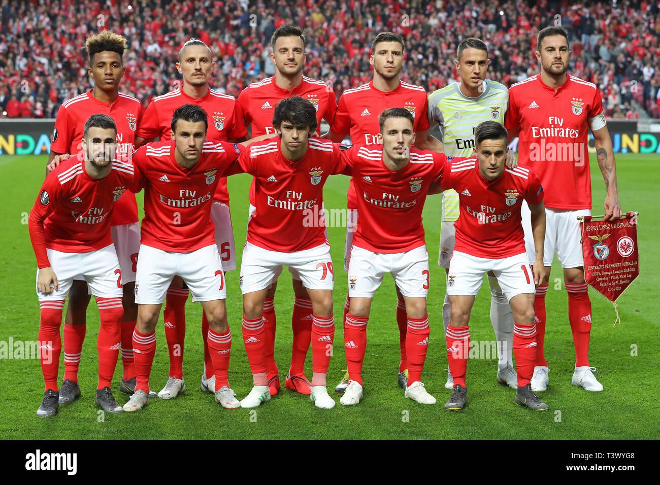 Aufstellung der SL Benfica Team während der UEFA Europa