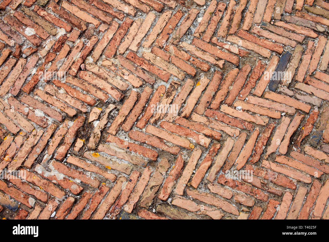 Textur brocks. Alte Mauer Detail der Villa Kaiser Tiberio. Stockbild