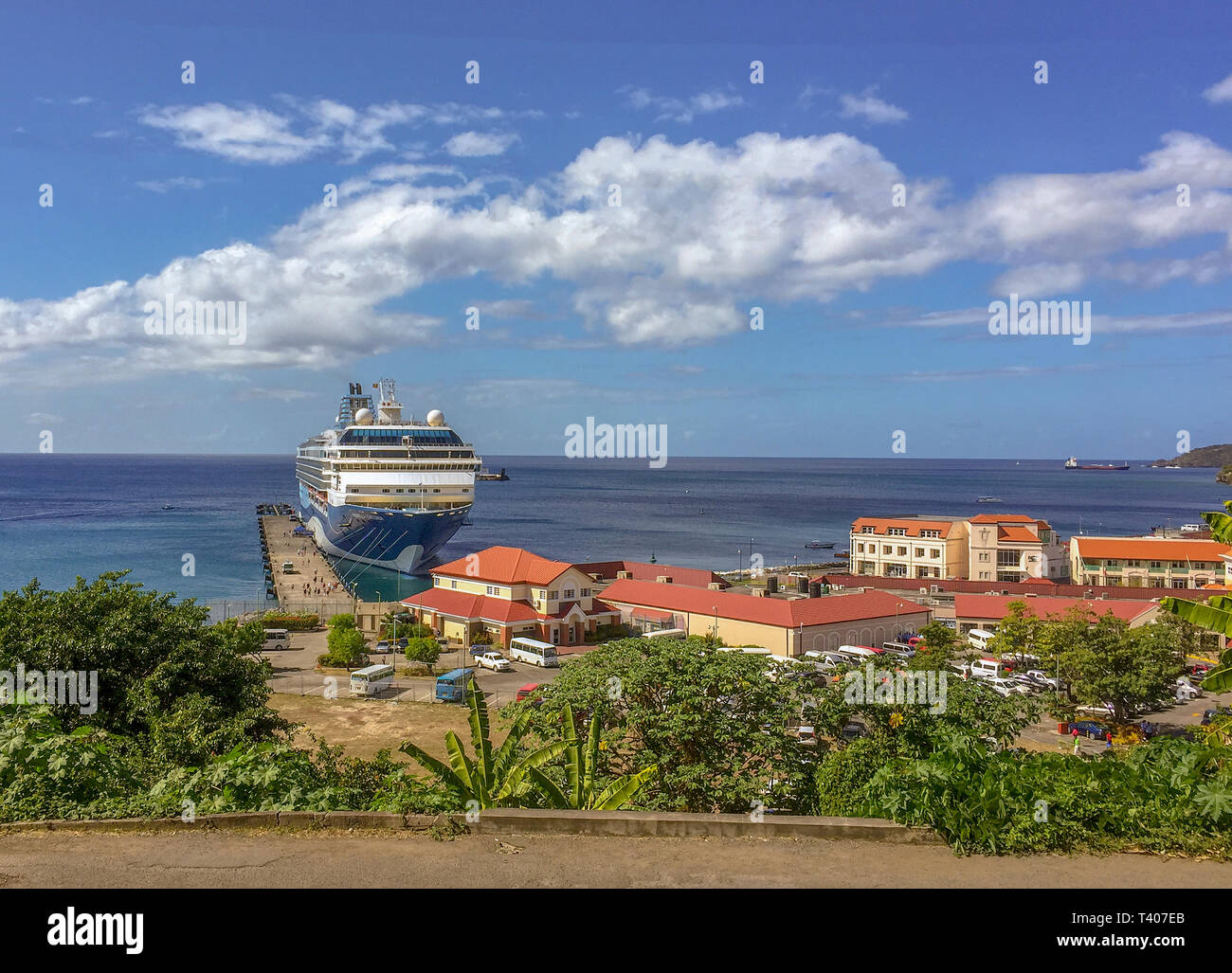 Grenada Port. St. George's, Grenada. Kreuzfahrtschiff Marella Explorer. Stockbild
