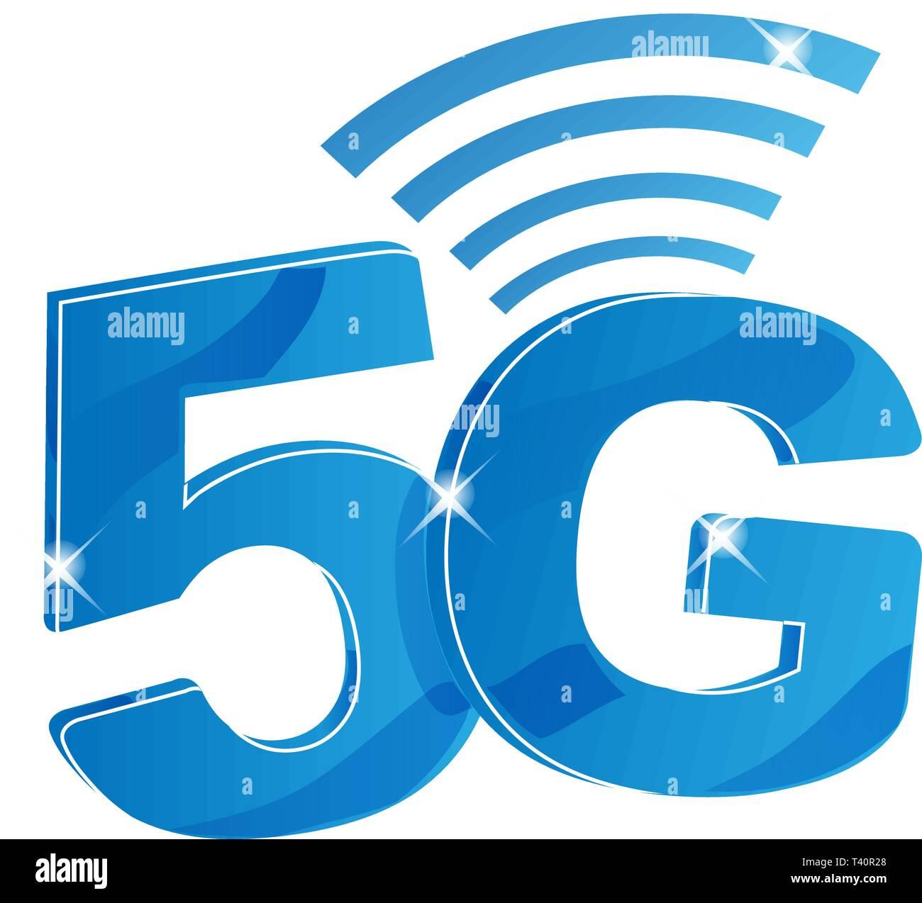 20G Internet Netzwerk vektor Logo. Isolierte Symbol für 20G Mobile ...