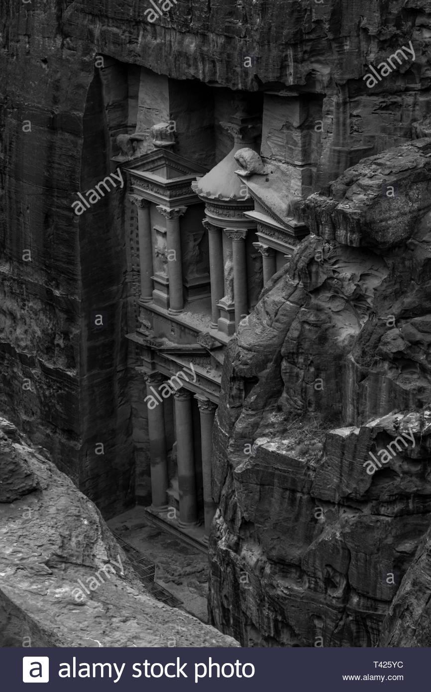 Schwarzweiß-Fotografie von Schloss Stockbild