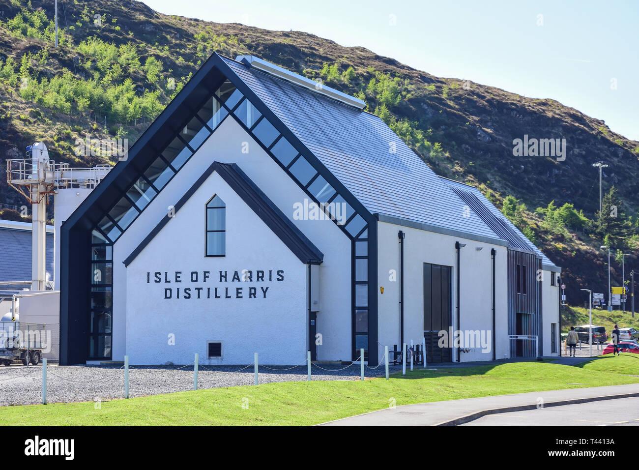 Besucherzentrum, Isle of Harris Distillery, Hafen Straße, Tarbert (Tairbeart), Isle of Harris, Äußere Hebriden, Na h-eileanan Siar, Schottland, Vereinigtes K Stockbild