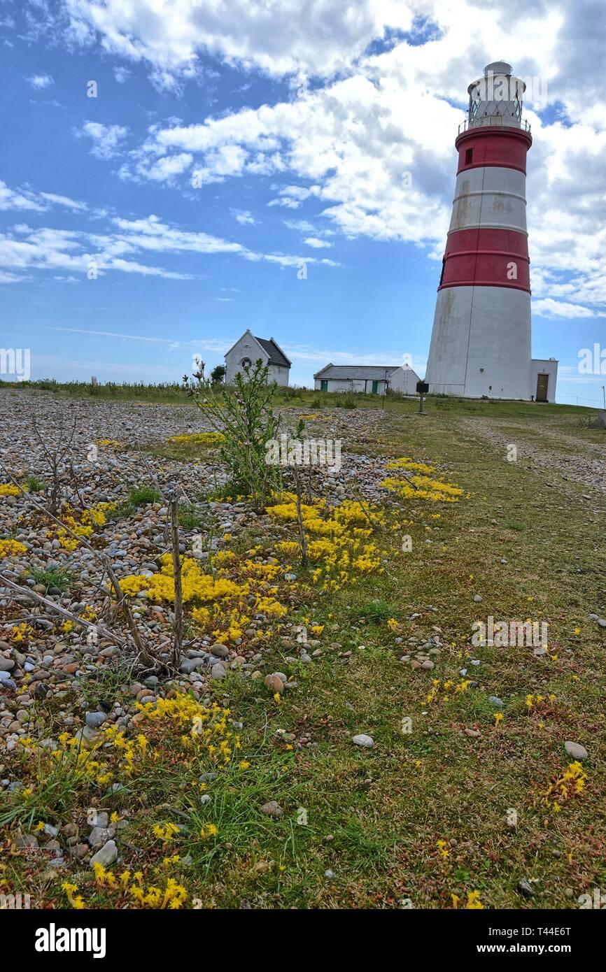 Orfordness Lighthouse auf Orford Ness, Suffolk, Großbritannien Stockfoto