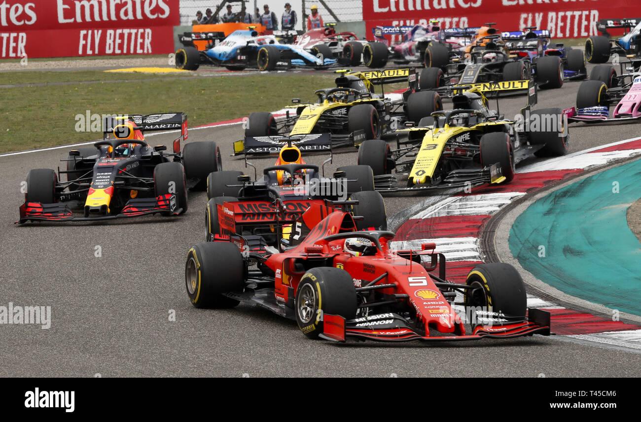 Motorsport Fia Formel Eins Weltmeisterschaft 2019 Grand Prix Von China Start 5 Sebastian Vettel Ger Scuderia
