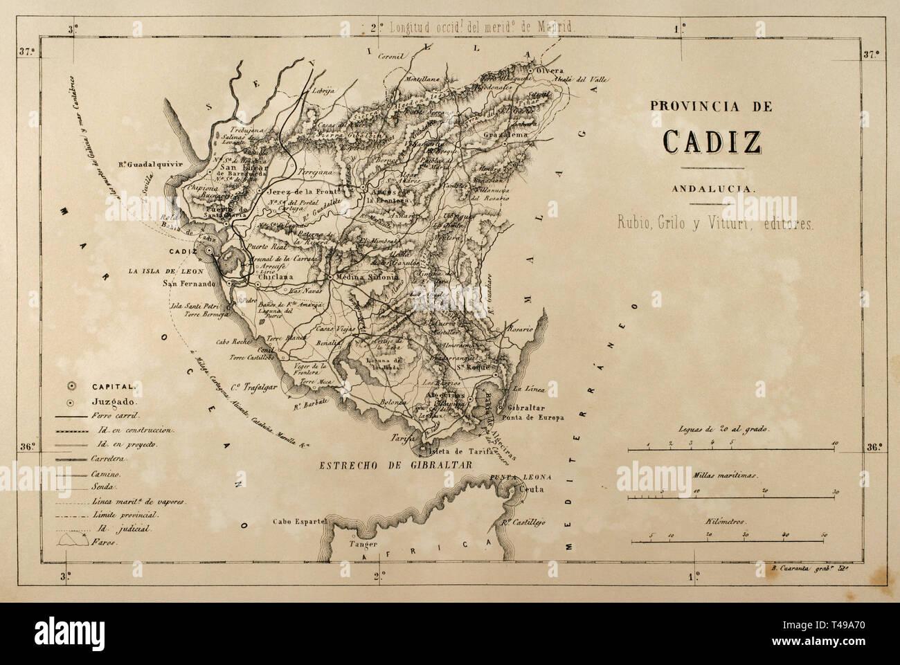 Karte Andalusien Cadiz.Landkarte Von Andalusien Stockfotos Landkarte Von Andalusien