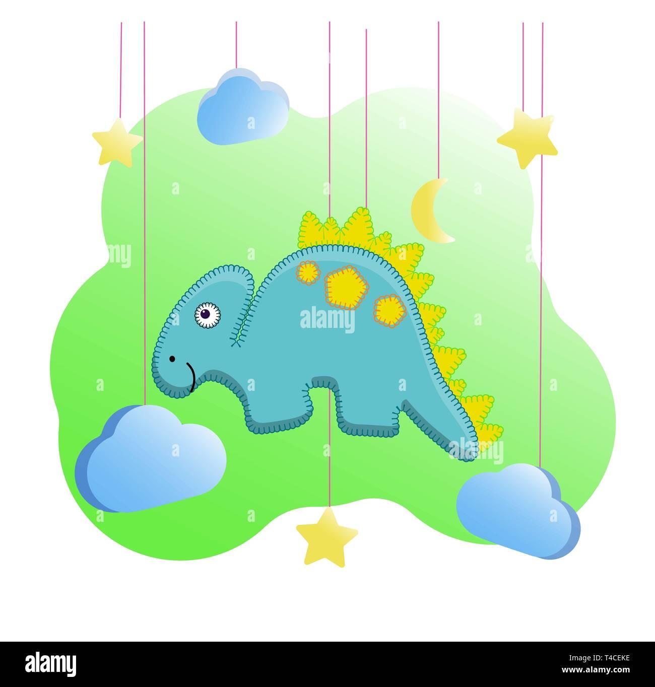 Gelbe Karte Lustig.Lustige Dino Drucken Im Stil Von Filz Spielzeug Für Den Kindergarten