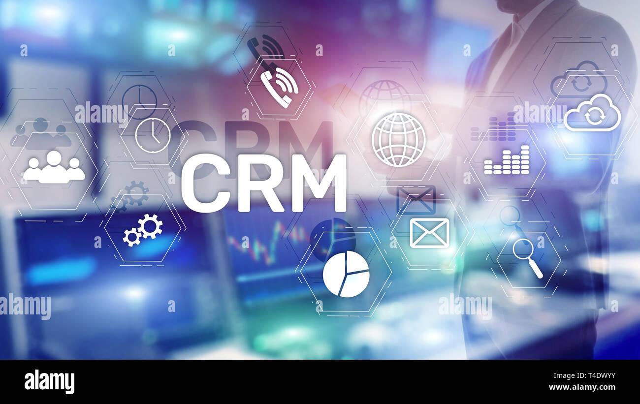 Business Kunden CRM-Management Analyse Service Konzept. Relationship Management. Stockfoto