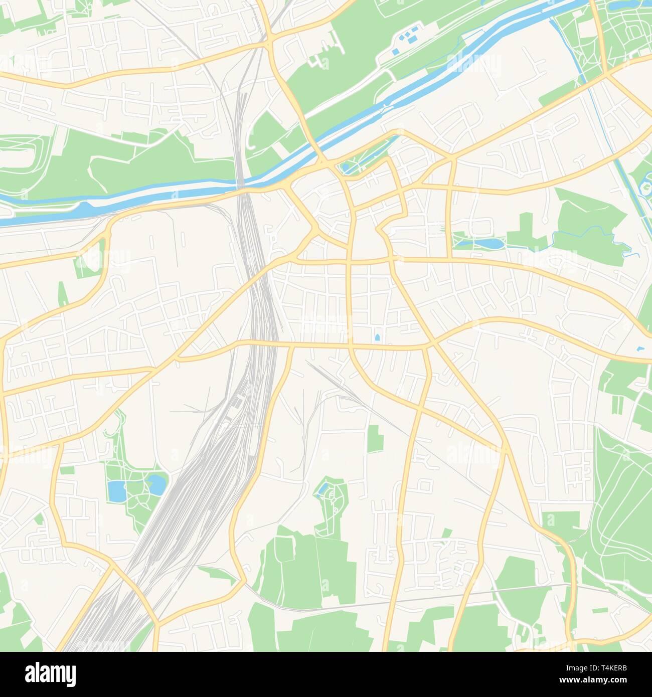 Hamm Karte.Druckbare Karte Von Hamm Deutschland Mit Haupt Und Nebenstraßen