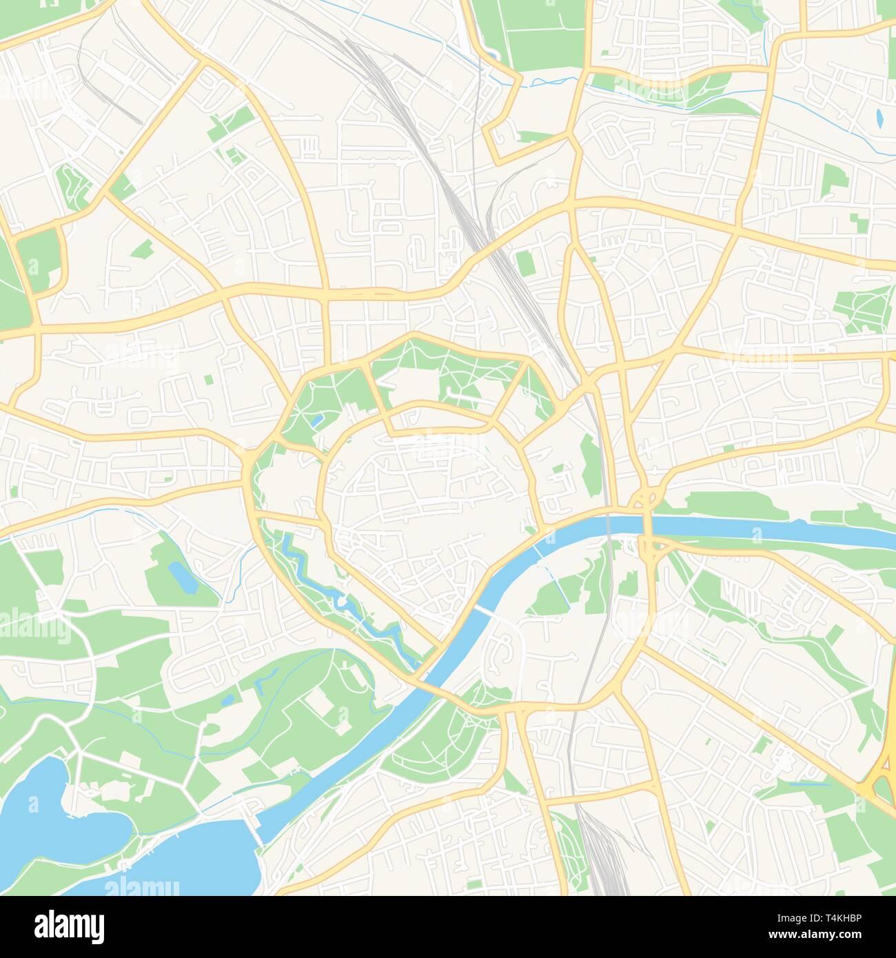 Druckbare Karte Von Ingolstadt Deutschland Mit Haupt Und