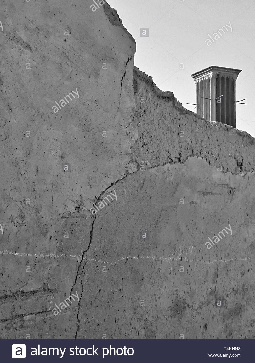 Graustufen Betonwand Stockbild