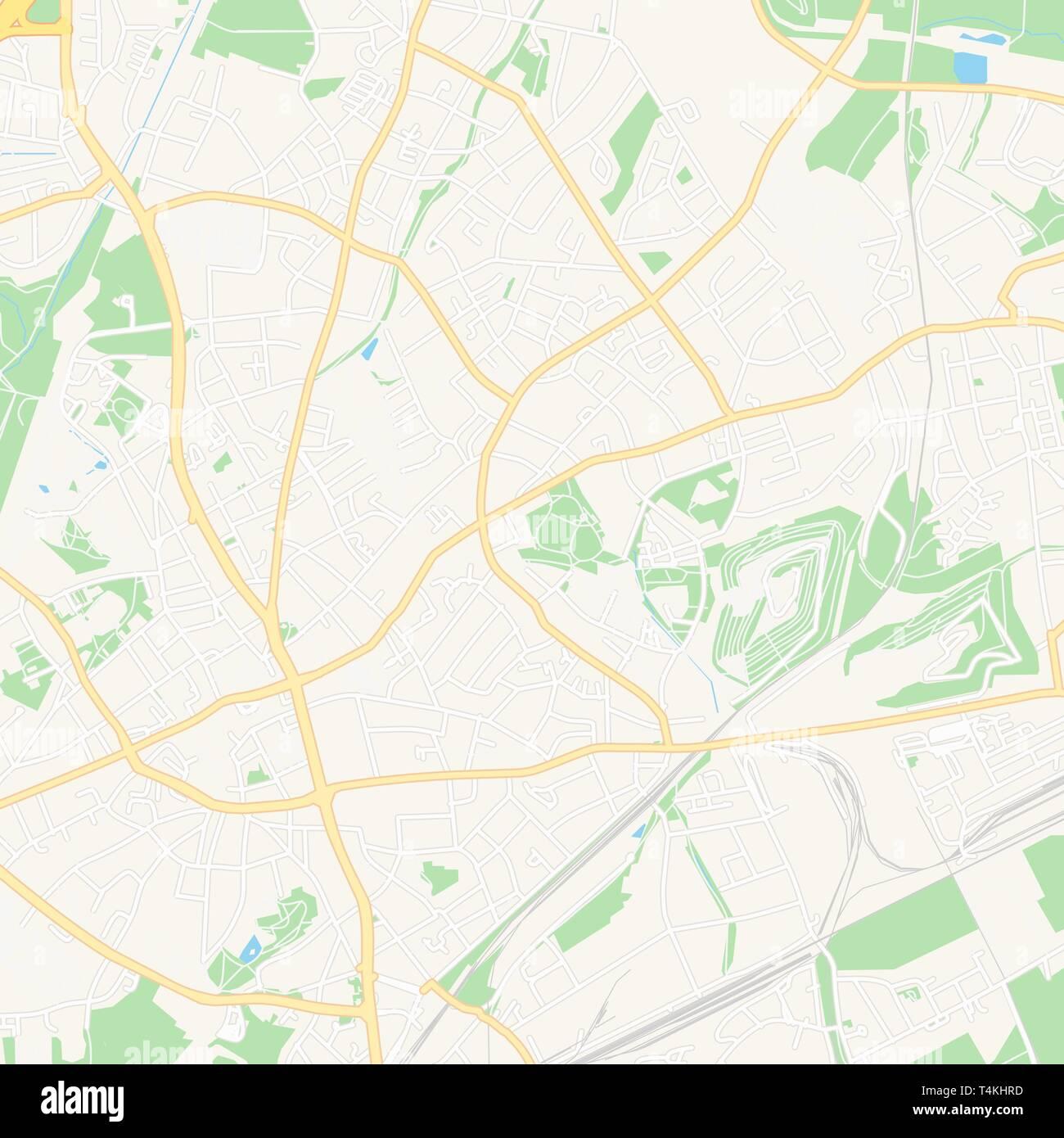 Druckbare Karte Von Bottrop Deutschland Mit Haupt Und