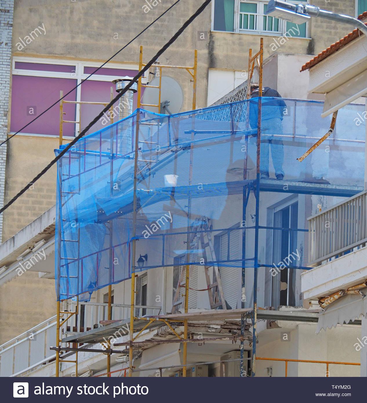 Alte Gebäude Wiederherstellung Stockbild