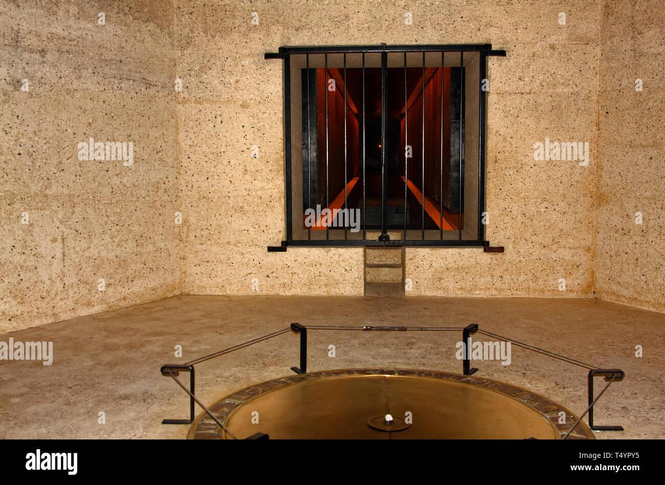 Abschiebung Memorial; 200.000 französische Opfer; Konzentrationslager; U-Bahn, Monument; Paris; Frankreich; Sommer, horizontal Stockbild