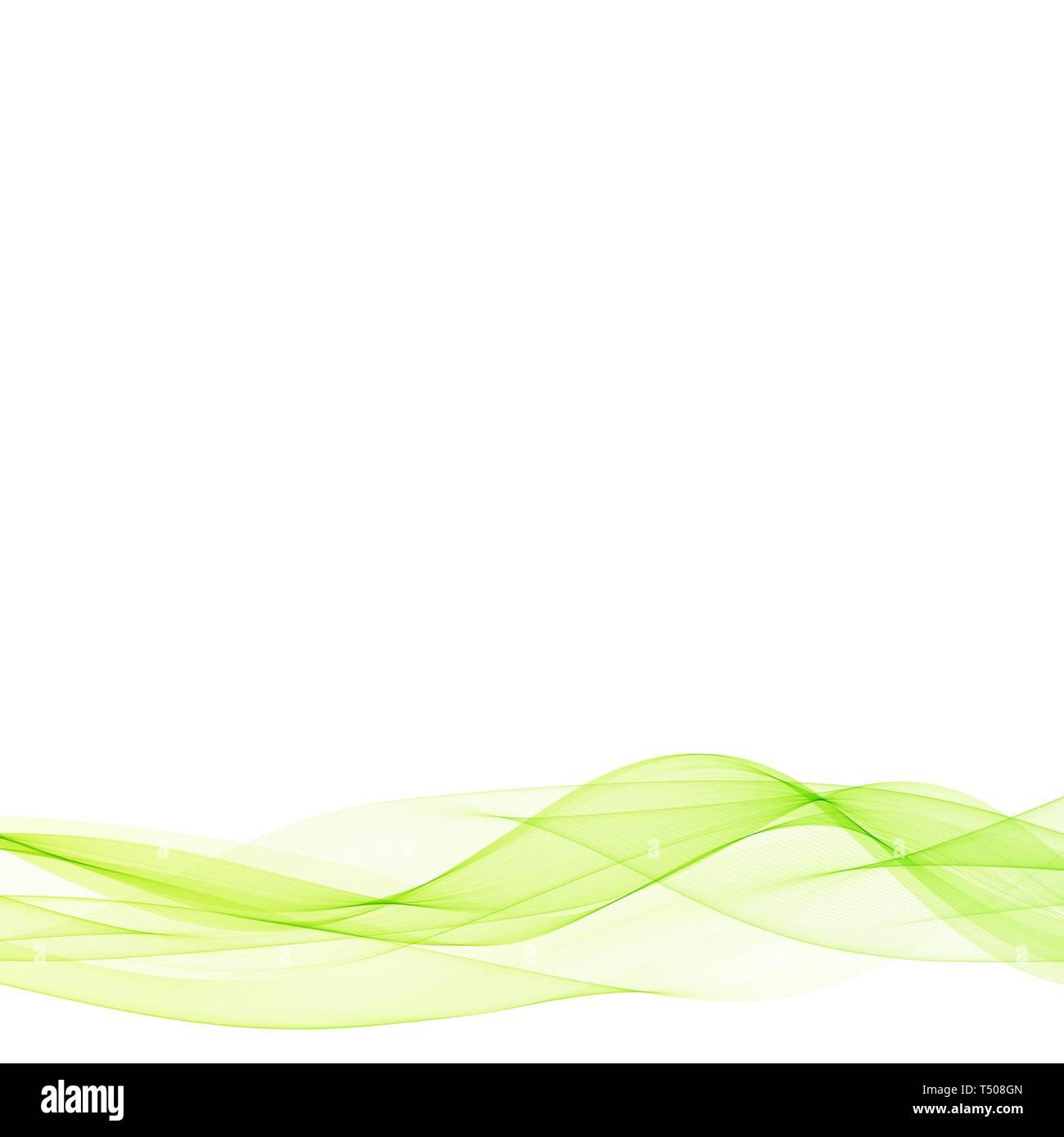 Vektor abstrakte grüne Wellen eps 10. Stockbild