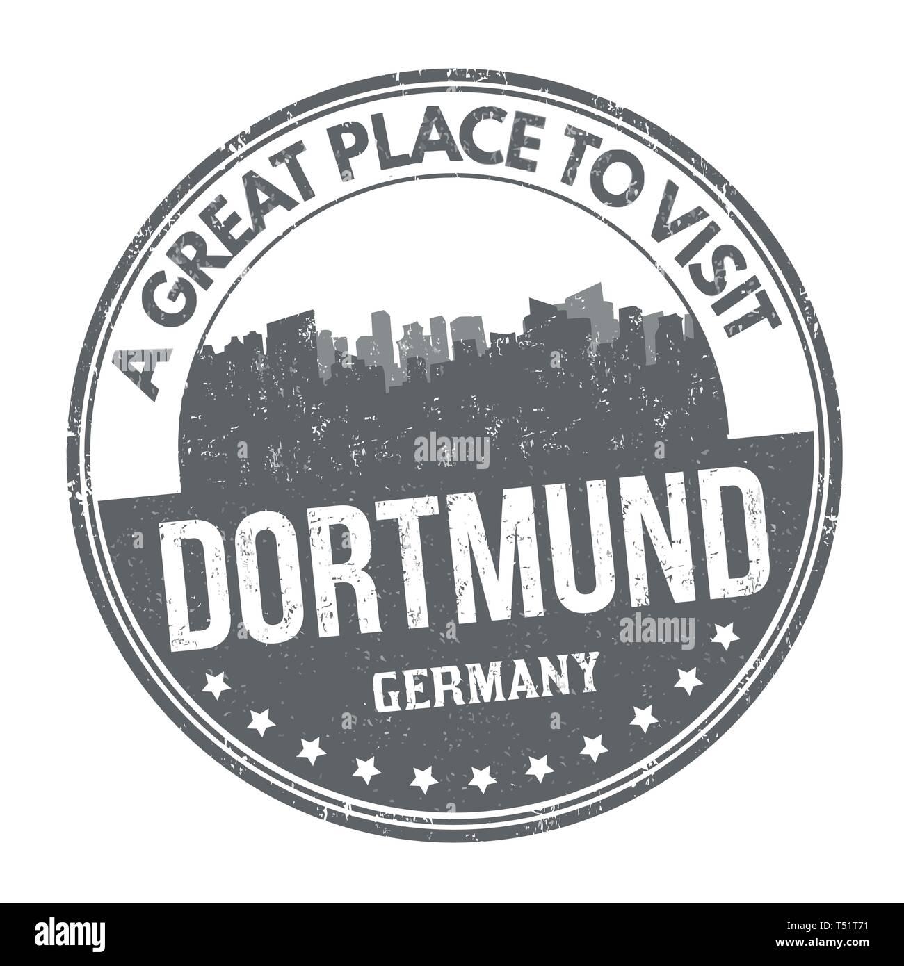 Dortmund Zeichen Oder Stempel Auf Weissem Hintergrund Vector Illustration Stock Vektorgrafik Alamy