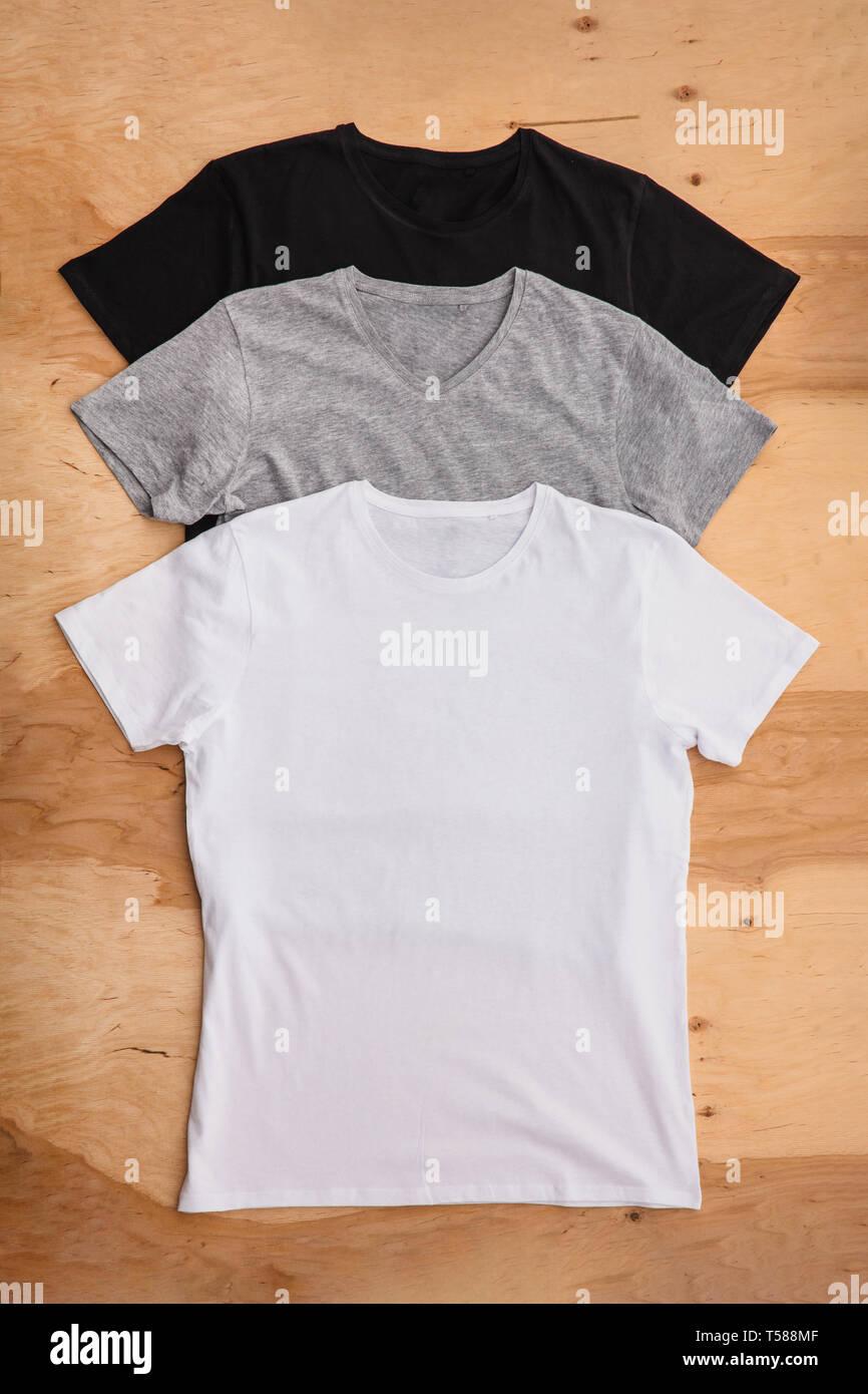 T hemden, stapel. Bunte, , t hemden, front, stapel, ansicht.