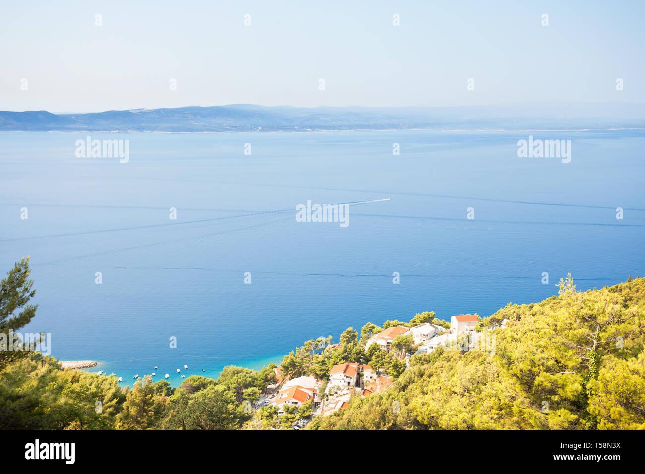 Makarska, Dalmatien, Kroatien, Europa - Wunderschönes Fischerdorf an der Küste Stockfoto