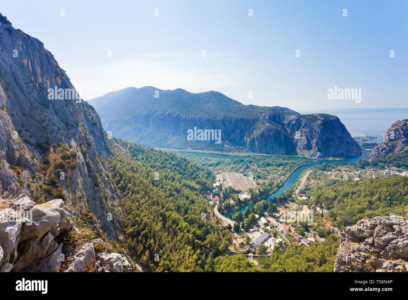 Omis, Kroatien, Europa - Gefühl der Schönheit der Omis aus der Sicht Stockfoto