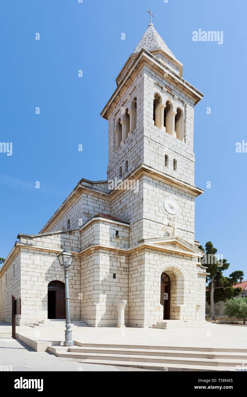 Pakostane, Kroatien, Europa - Schöne alte Kirche Architektur bei Pakostane Stockfoto