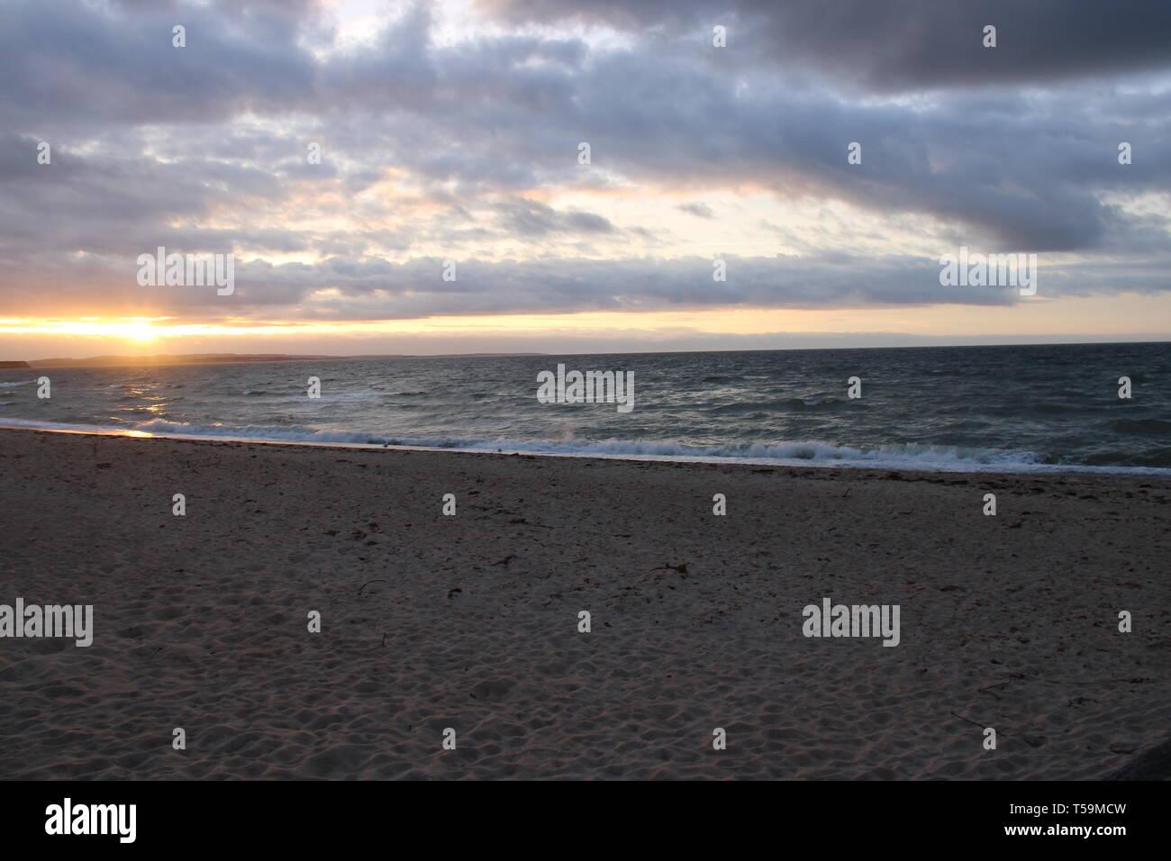 Strand Meer Meer Strand Stockbild