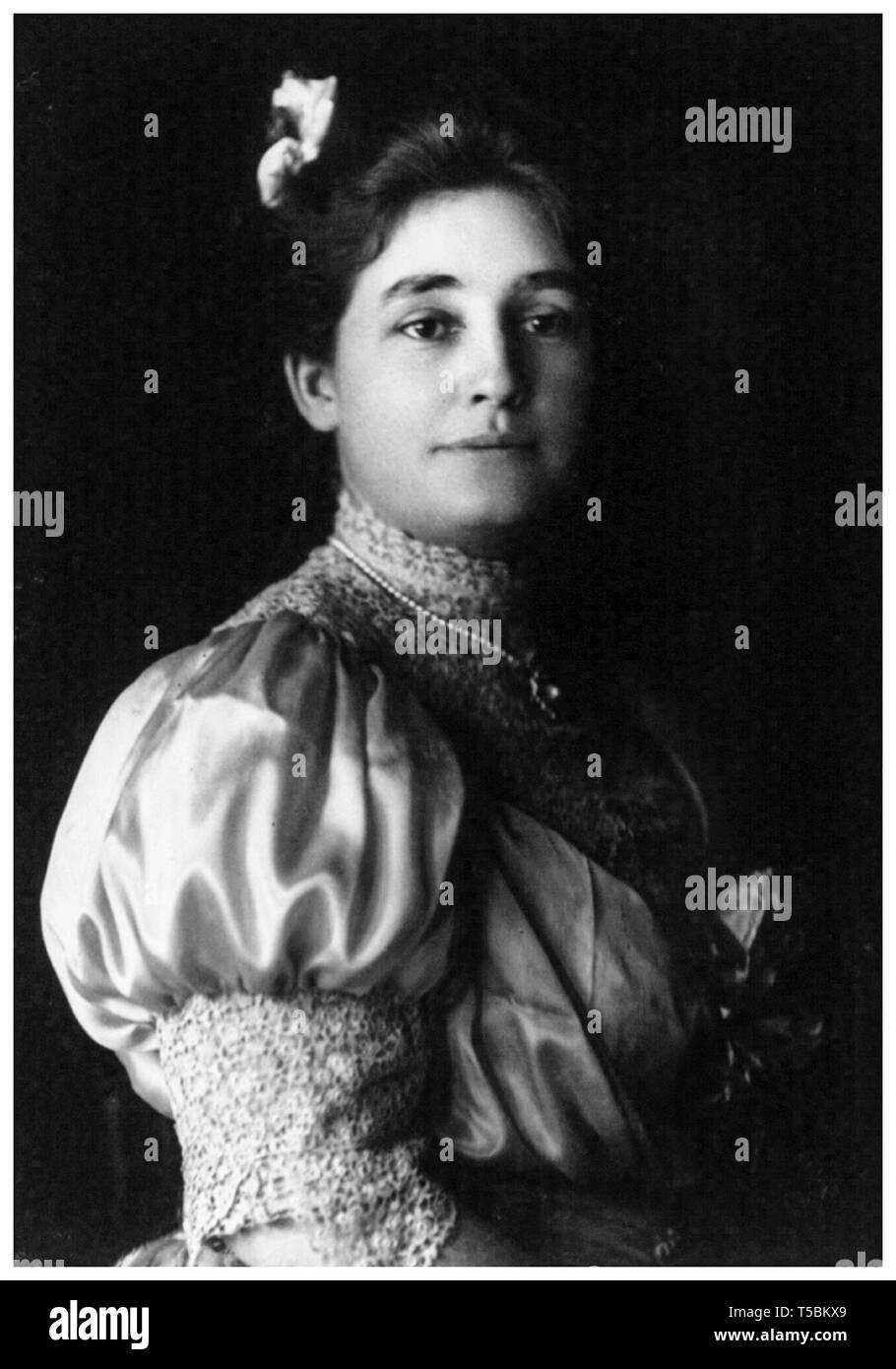 Mina Miller Edison (1865-1947), Ehefrau von Erfinder Thomas Alva Edison, Porträt, Gebrüder Pach, 1906 Stockfoto