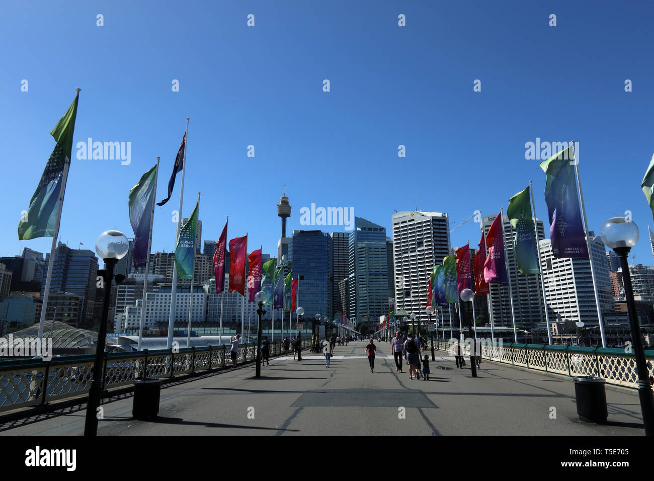 Darling Harbour, Sydney, Australien Stockbild