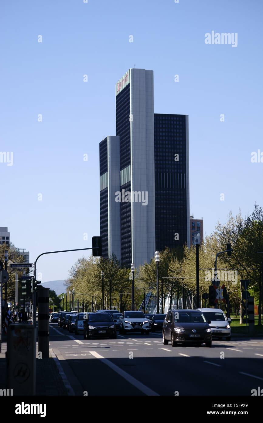 Frankfurt Deutschland 18 April 2019 Verkehr Auf Der Hamburger