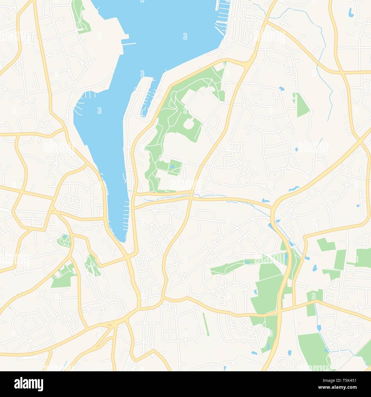 Flensburg Karte.Druckbare Karte Von Flensburg Deutschland Mit Haupt Und