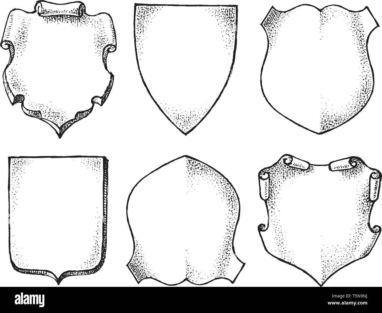 Vector Wappenschild Auf Weissem Hintergrund 13