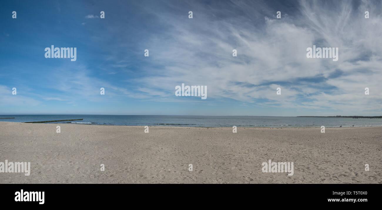 Einen Panoramablick über die Ostsee Strand in Boltenhagen Stockfoto