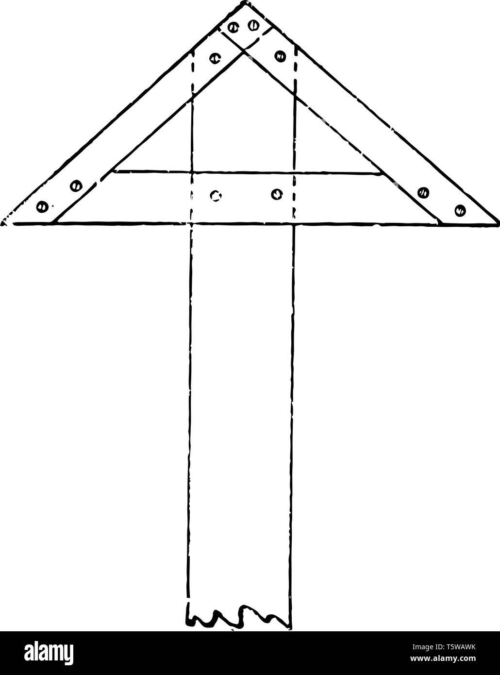Feste dreieckigen Kopf T-Quadrat ist eine lange Kontaktfläche mit der Kante der Platine ist es die zwei bewegliche Arme mit dem Gehäuse verbunden und angeordnet Stockbild