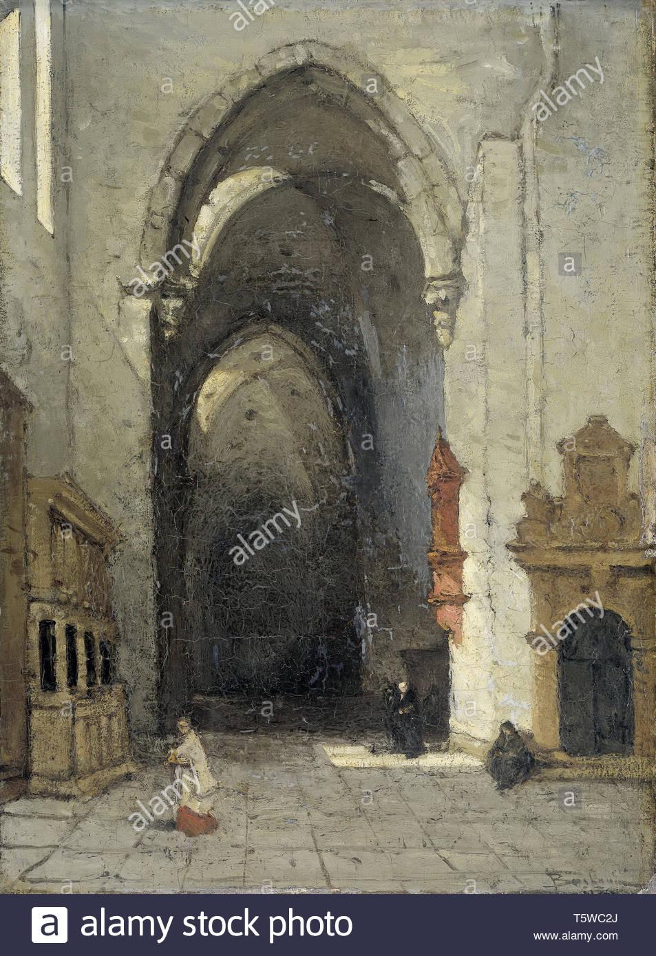 Bosboom, Johannes-Interieur van de Domkerk te Trier, 1870-1880 Stockbild