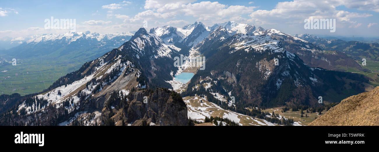 Panorama Schweiz Mountain Top Stockbild