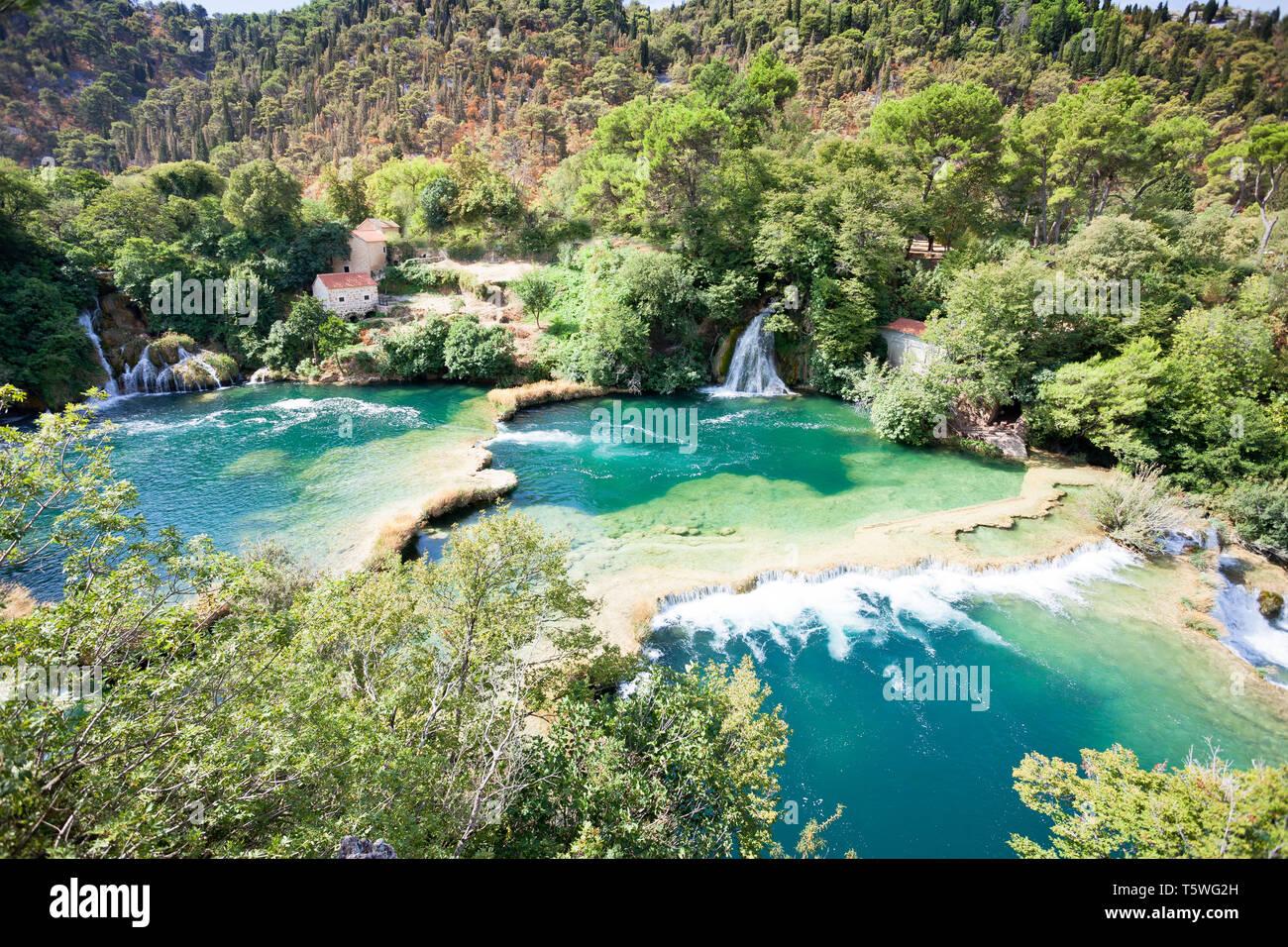 Krka, Sibenik, Kroatien, Europa - Genießen Sie die Schönheit der Natur im Nationalpark Krka Stockfoto