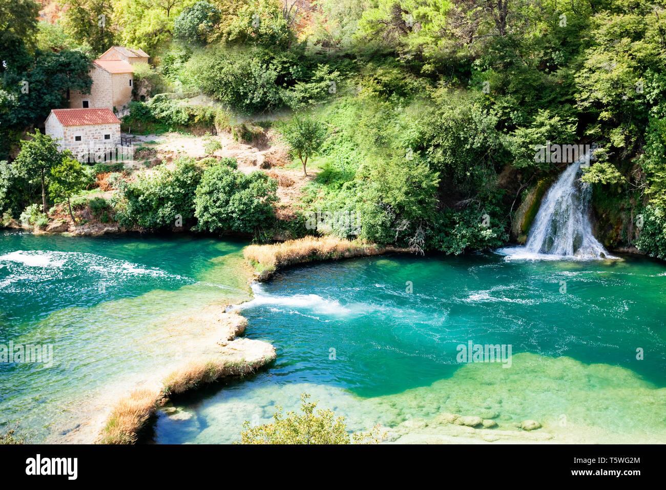 Krka, Sibenik, Kroatien, Europa - genau dort, wo Sie den Rest Ihres Lebens zu verbringen Stockfoto