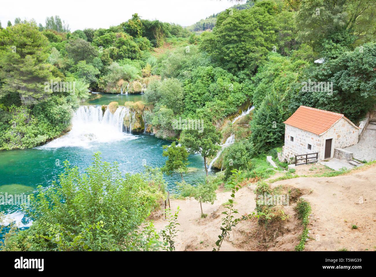 Krka, Sibenik, Kroatien, Europa - Leben in der Natur und fernab von Stress Stockfoto