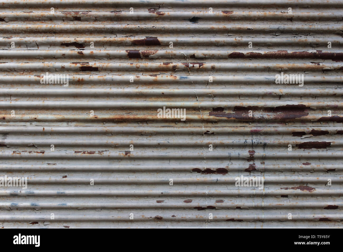 Detail einer alten rostigen Metall Verschluss Stockbild