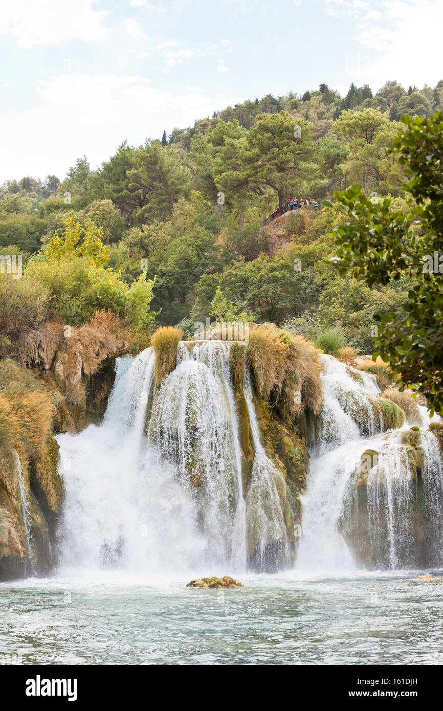 Krka, Sibenik, Kroatien, Europa - viele Rutschen im Nationalpark Krka Stockfoto
