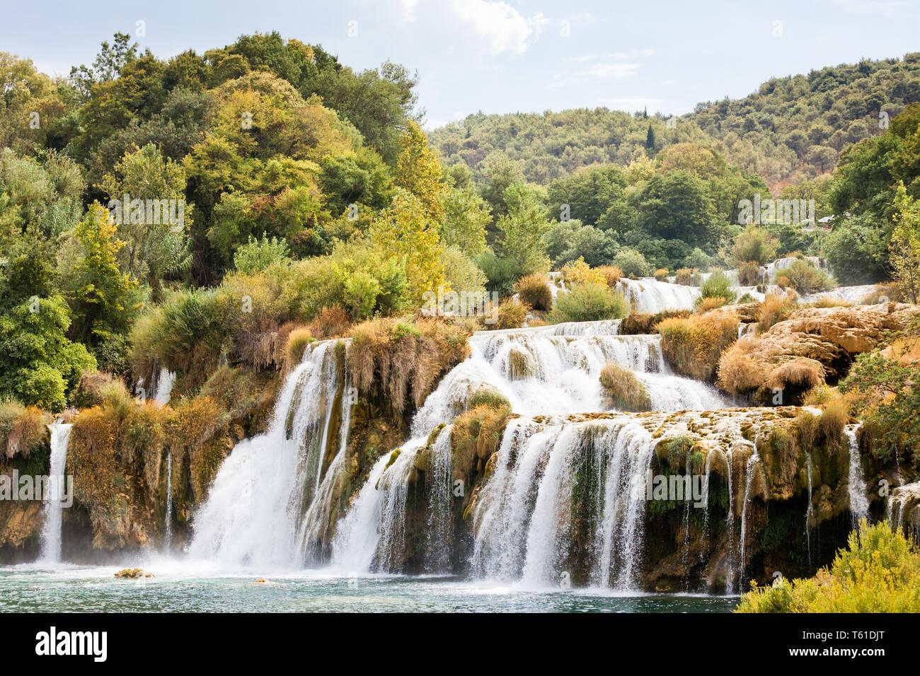 Krka, Sibenik, Kroatien, Europa - Wandern durch die beeindruckende Landschaft des Nationalpark Krka Stockfoto