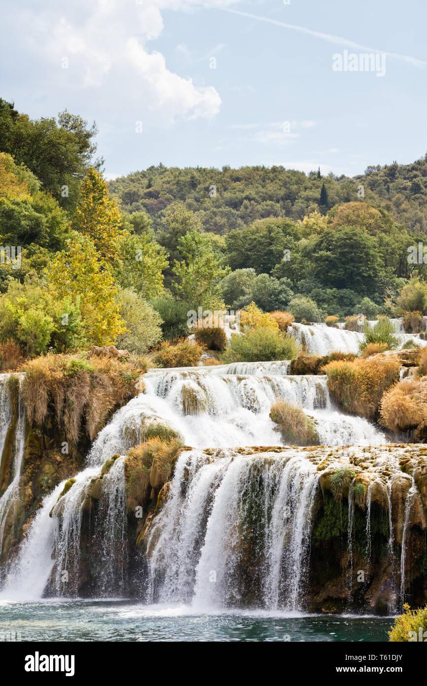 Krka, Sibenik, Kroatien, Europa - erleben Sie einen sonnigen Sommer im Nationalpark Krka Stockfoto