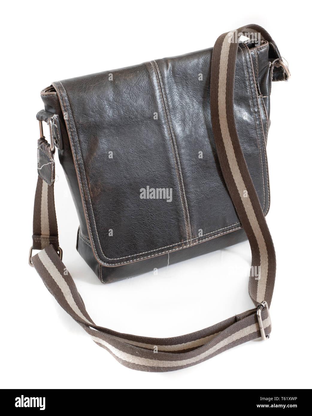aa6442be675ba Isolated Closeup Leather Zipper Purse Stockfotos   Isolated Closeup ...