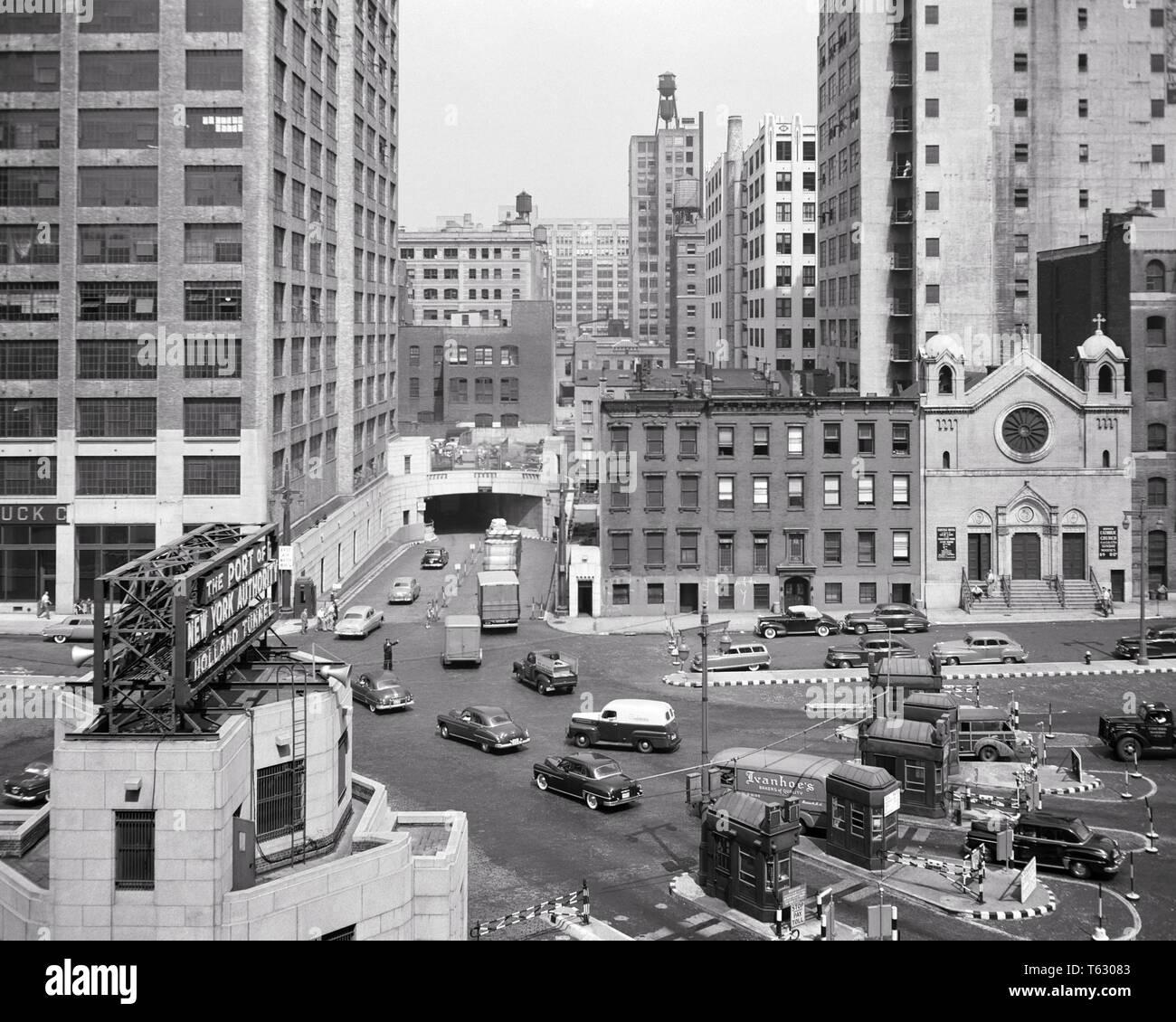1950s Eingang Zum Holland Tunnel Unter Dem Hudson River Von