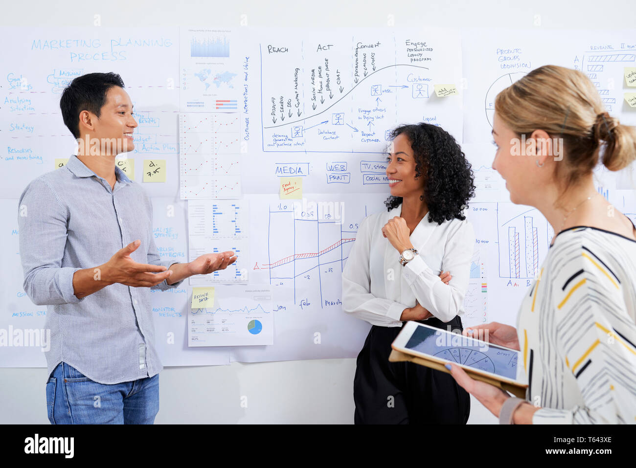 Tagung der Abteilung Marketing Stockbild