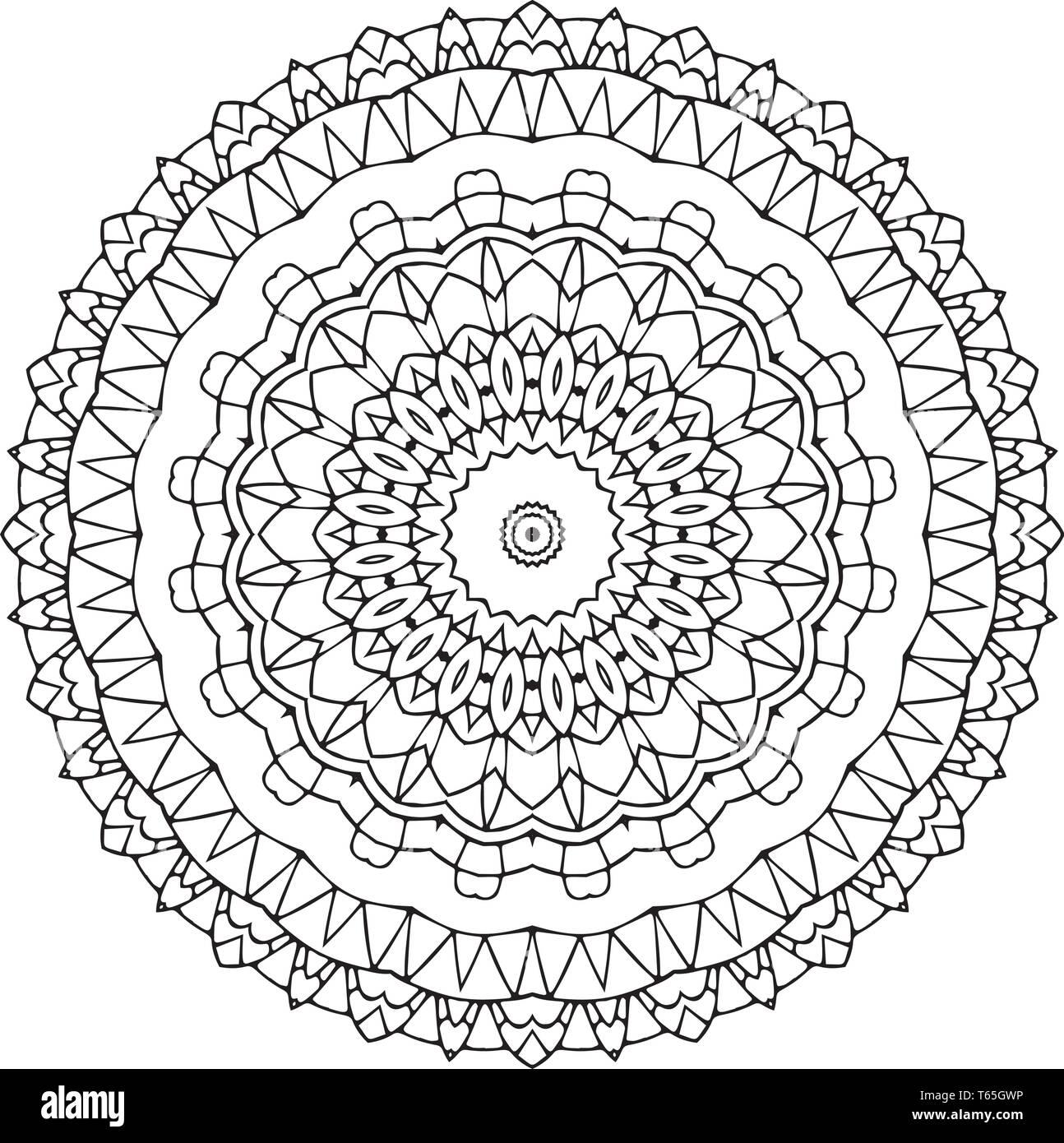 Indische Vektor Dekoratives Mandala Mix Aus Symmetrischen Blüten