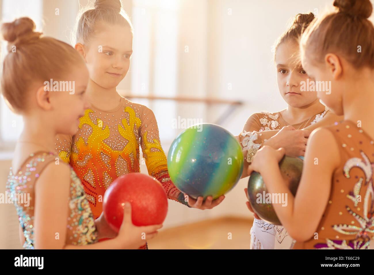 Gymnastik Team Stockbild